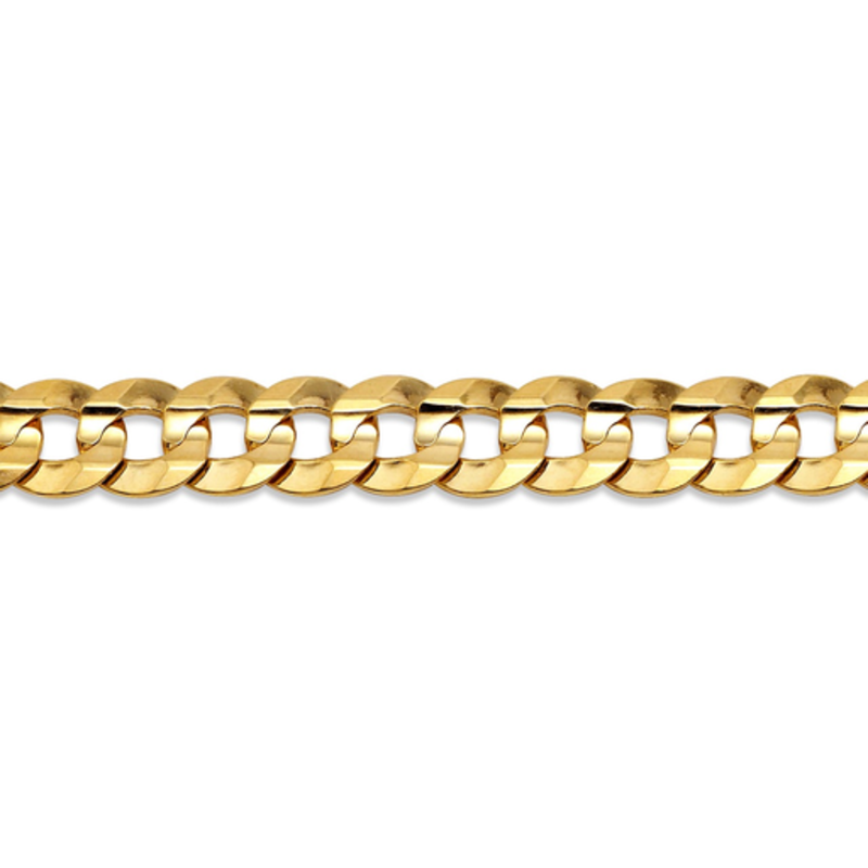 """10K Yellow Gold (5.6mm) Curb Chain (20"""" -24"""")"""