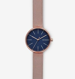 Skagen Skagen Signatur Rose Gold-Tone Steel-Mesh Ladies Watch