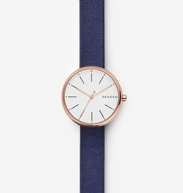 Skagen Skagen Signatur Blue Leather Watch