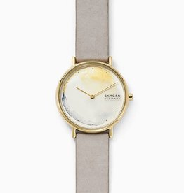 Skagen Skagen Signatur Gray Leather Ladies Watch