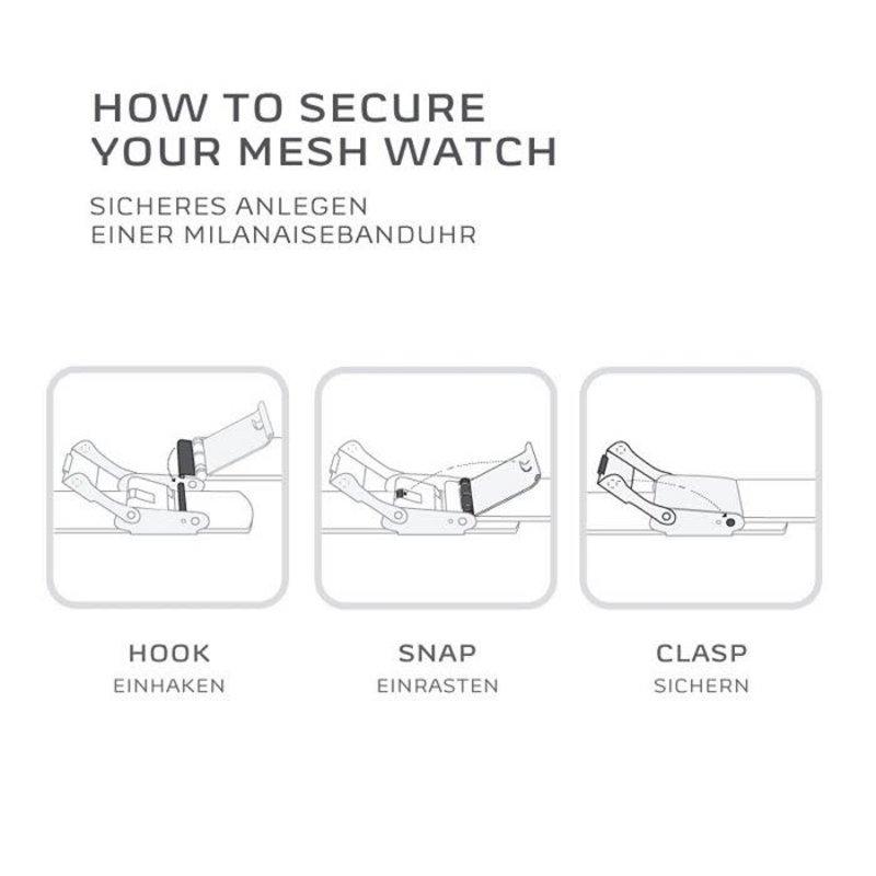 Skagen Skagen Signatur Black Steel-Mesh Mens Watch