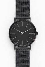 Skagen Skagen Signatur Black Steel-Mesh Mens Watch