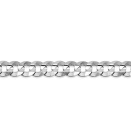 """10K White Gold (4.5mm) Curb Chain (20"""" - 24"""")"""