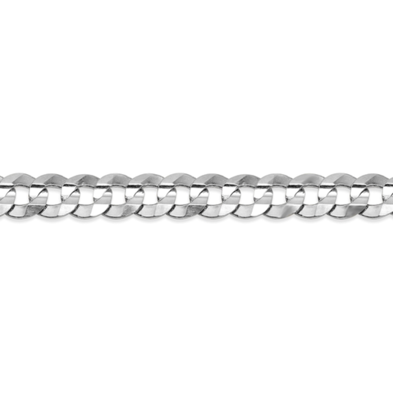 "10K White Gold (4.5mm) Curb Chain (20"" - 24"")"