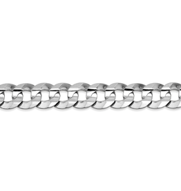 White Gold (20 - 24in) Curb Chains 5.5mm