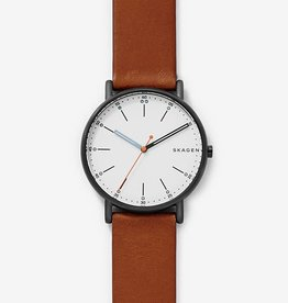 Skagen Skagen Signatur Brown Leather Mens Watch