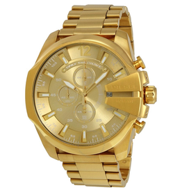 Diesel Diesel Mega Chief Gold Tone Mens Watch