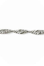 Sterling Silver (16 - 26in) Singapore Chains 2.3mm