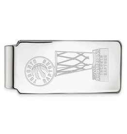 NBA Licensed 2019 NBA Championship Toronto Raptors Sterling Silver Money Clip