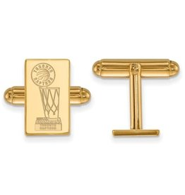 NBA Licensed 2019 NBA Championship Toronto Raptors Gold Plated Cuff Links