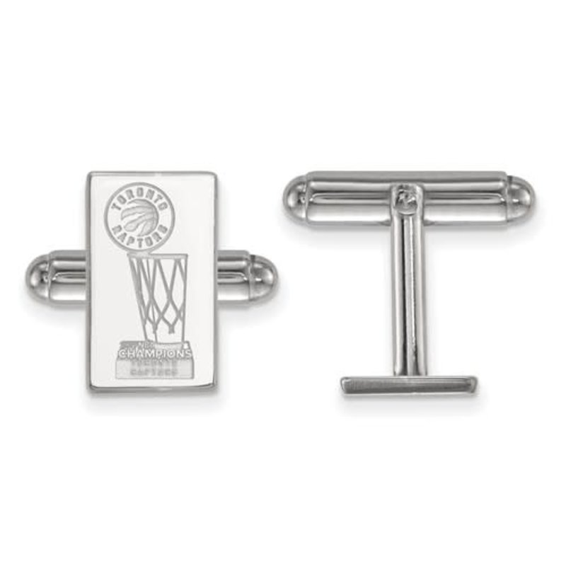 NBA Licensed 2019 NBA Championship Toronto Raptors Sterling Silver Cuff Links