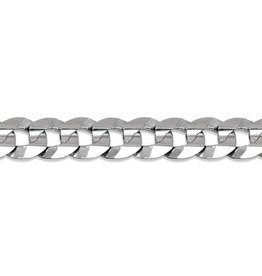 Sterling Silver (20 - 24in) Curb Chains 9.5mm