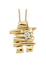 10K Yellow Gold Inukshuk  (0.03ct - 0.50ct) Canadian Diamond Pendant