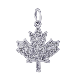Maple Leaf CANADA Sterling Silver Pendant