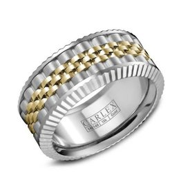 Carlex Carlex White and Yellow Gold Luxury G3 Mens Ring