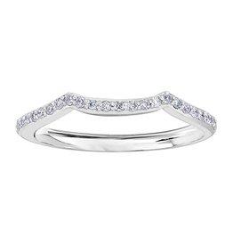 Maple Leaf Diamonds Matching White Gold Diamond Band