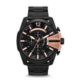 Diesel Diesel Chief Black and Rose Tone Watch