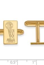 NBA Licensed 2019 NBA Championship Toronto Raptors Gold Plated Cuff Links