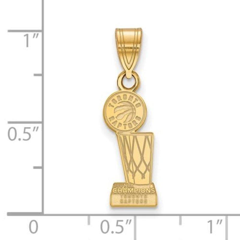 NBA Licensed 2019 NBA Championship Toronto Raptors Gold Plated Sterling Silver Pendant