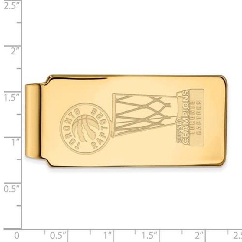 NBA Licensed 2019 NBA Championship Toronto Raptors Gold Plated Money Clip