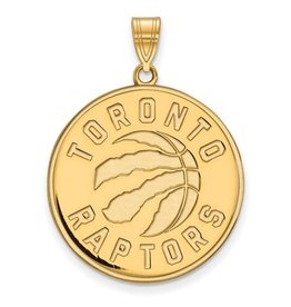 NBA Licensed Toronto Raptors Pendant (25mm) Sterling Silver Gold Plated