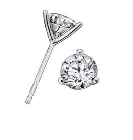 18K White Gold Diamond (0.15ct - 1.00ct) Martini Set Stud Earrings