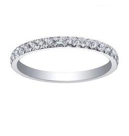 18K White Gold (0.32ct) Diamond Wedding Band