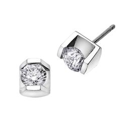 Maple Leaf Diamonds White Gold Tension Set (0.15ct - 0.50ct) Diamond Stud Earrings