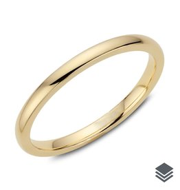 2mm Dome Wedding Band