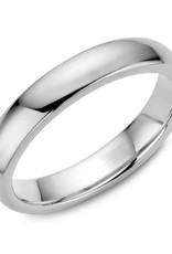 10K Gold Dome Wedding Bands 4mm (Yellow, White & Rose)