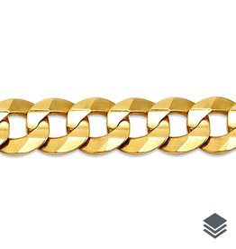 Yellow Gold (20 - 24in) Curb Chain 7mm