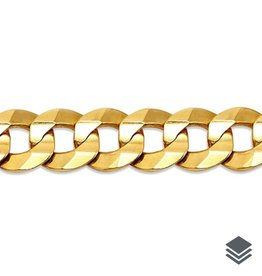 Yellow Gold (20 - 24in) Curb Chain 7.6mm