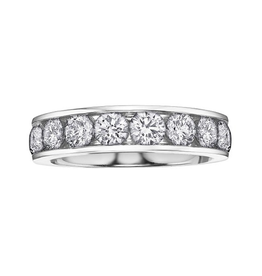 14K White Gold (0.25ct - 1.00ct) Diamond Anniversary Bands