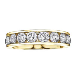14K Yellow Gold (0.25ct - 1.00ct) Diamond Anniversary Bands