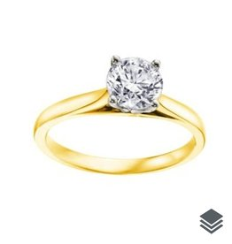 I am Canadian Yellow Gold Canadian Diamond (0.20ct - 0.70ct) Solitare Ring