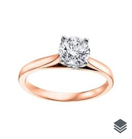 I am Canadian 14K Rose Gold (0.20ct - 0.70ct) Canadian Diamond Solitare Engagement Ring