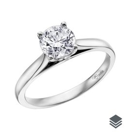 I am Canadian White Gold Canadian Diamond (0.20ct - 0.70ct) Solitare Ring
