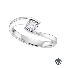 White Gold Tension Set (0.05ct - 0.20ct) Solitaire Diamond Ring