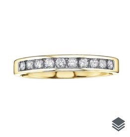 Yellow Gold (0.10ct - 0.20ct) Diamond Anniversary Bands