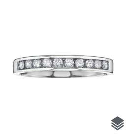 10K White Gold (0.10ct - 0.20ct) Diamond Anniversary Bands