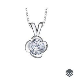 Maple Leaf Diamonds 18K Palladium White Gold (0.10ct - 0.50ct) Canadian Diamond Winds Embrace Pendant