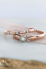 Rose Gold (0.06ct) Diamond Stackable Band