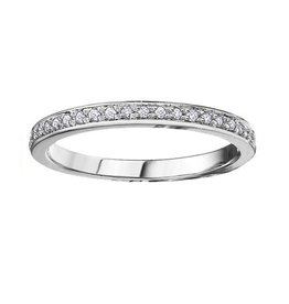10K White Gold (0.10ct) Diamond Anniversary Band