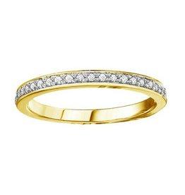 10K Yellow Gold (0.10ct) Diamond Stackable Wedding Band