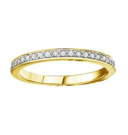 10K Yellow Gold (0.10cttw) Diamond Stackable Band