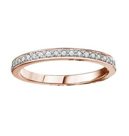 10K Rose Gold (0.10ct) Diamond Stackable Wedding Band