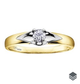 I am Canadian Yellow Gold Canadian Diamond (0.04ct - 0.14ct) Solitaire Ring