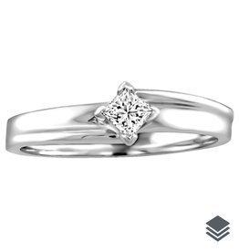 I am Canadian White Gold Princess Cut Diamond  (0.05ct - 0.10ct) Solitare Ring