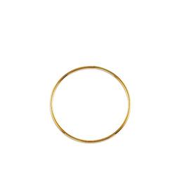 10K Yellow Gold (1.0mm) Hoop Sleeper Earrings (10mm-50mm)