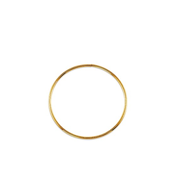 Yellow Gold 1.0mm Hoop  (12mm - 50mm) Sleeper Earrings